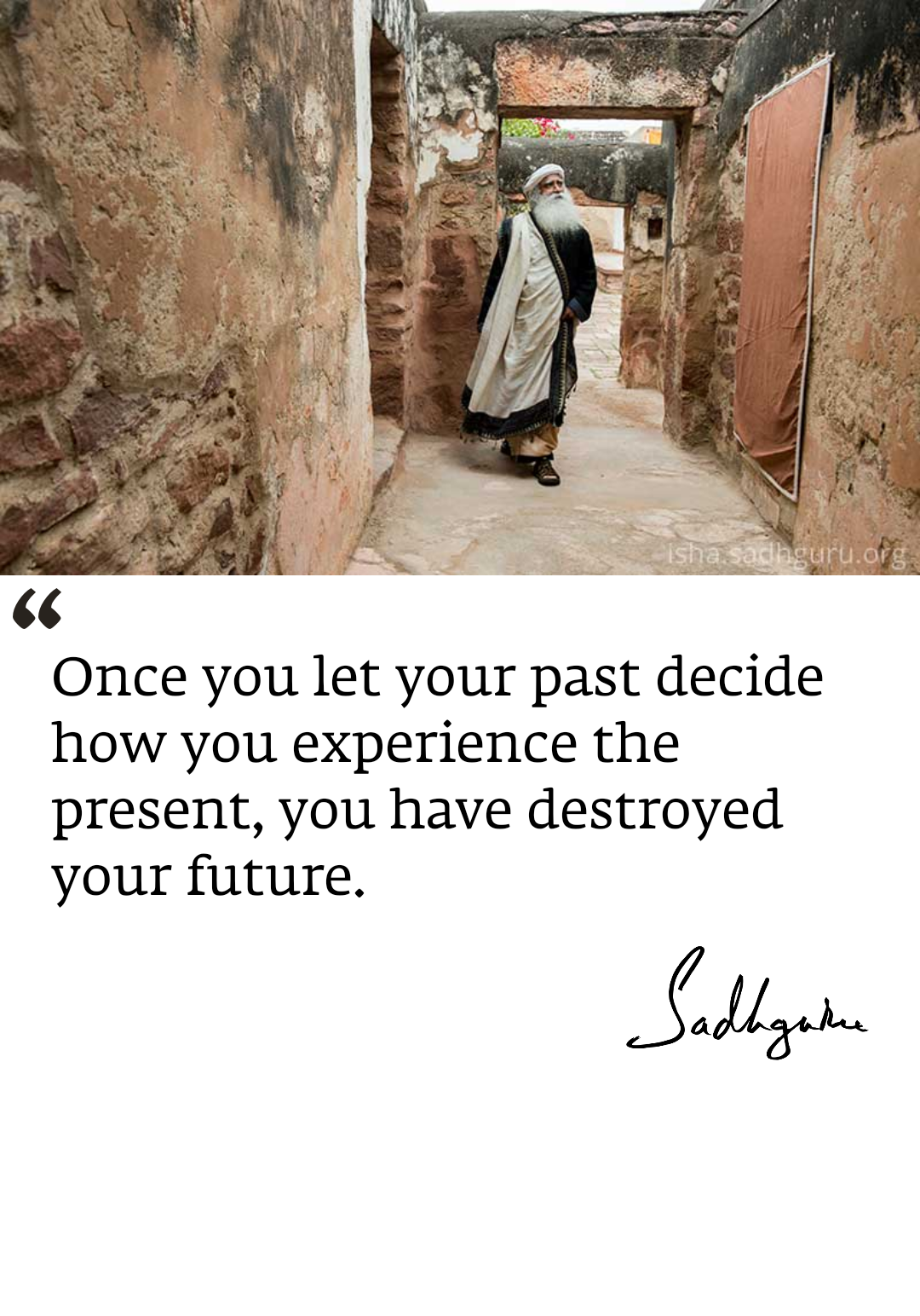 Don't let your past determine your future